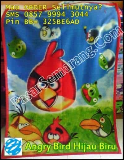 Jual selimut flanel motif angry bird murah online