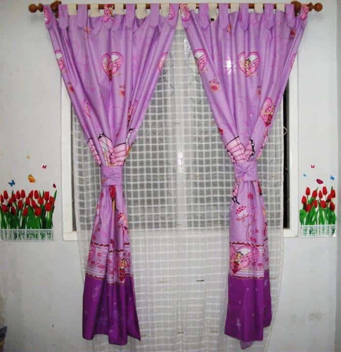 korden cantik bagus untuk kamar cowok cewek murah murmer ungu