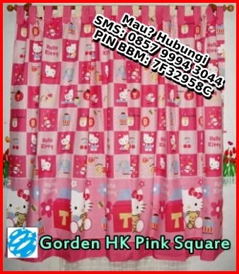 jual gorden hello kitty jual sprei hello kitty jual tirai motif hello kitty