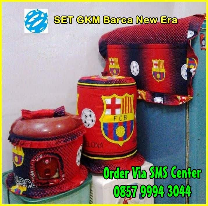 Jual Set Sarung Galon Tutup Kulkas Magic Jar Barca Barcelona