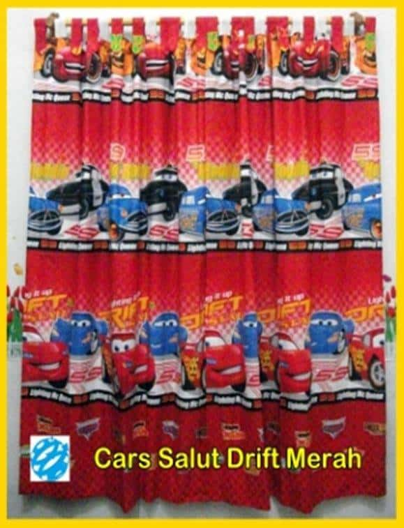 Gorden Karakter Anak Cars Merah