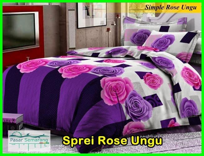 sprei rose ungu