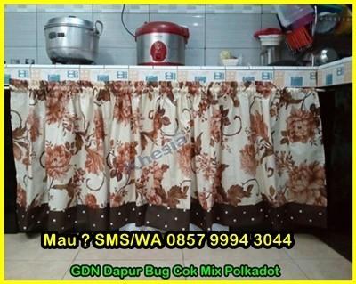 Pasang Gorden Untuk Kompor Gas Di Dapur, Cakep Nih Kak
