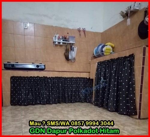 Motif Tirai Kolong Dapur Minimalis