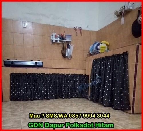 Motif Tirai Kolong Meja Dapur