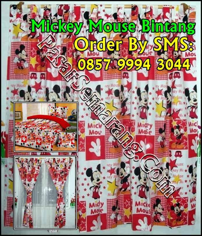 kamar mickey mouse Kamar anak cowok Tirai Jendela murah kamar putih merah