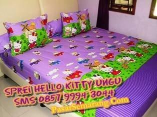 Sprei Gorden warna ungu set bedcover sprei gorden