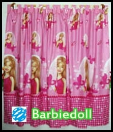 Tirai jendela motif barbie sprei barbie murah