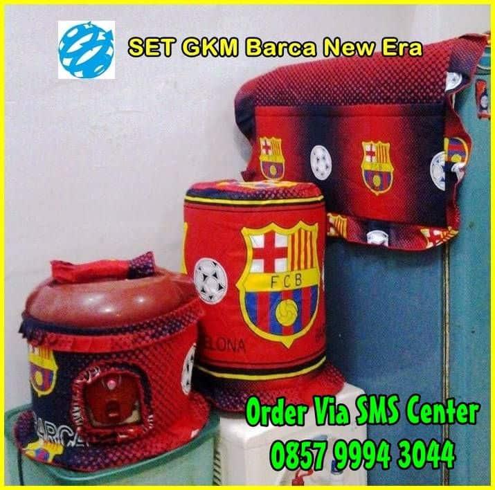 Jual Set Sarung Galon Tutup Kulkas Magic Jar Barca Barcelona