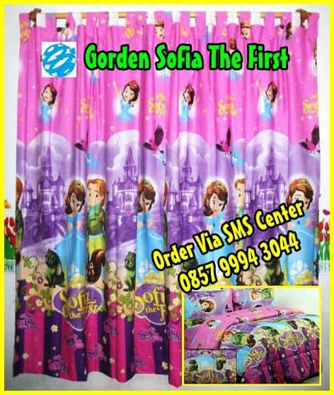 Fb Jual Set Gorden Sprei Bedcover Princess Sofia the First Murah