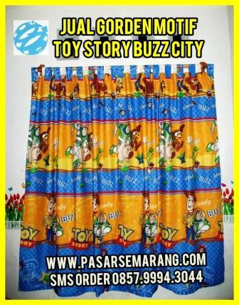 Jual Set Gorden Sprei Bedcover Motif Toy Story Online Semarang