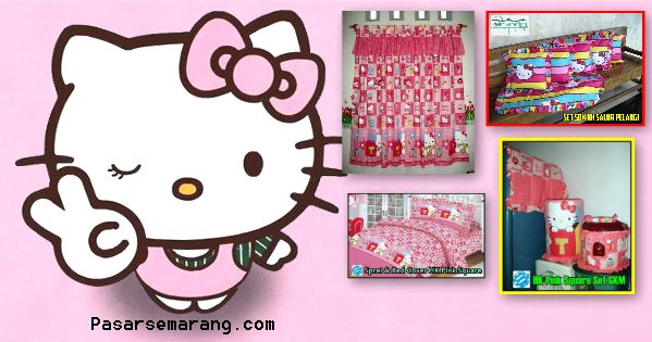 Jual Sprei Hello Kitty, Jual Gorden Hello Kitty Murah Online