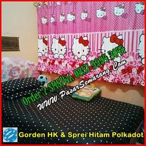 Gorden Hello Kitty dan Sprei Polkadot hitam.jpg