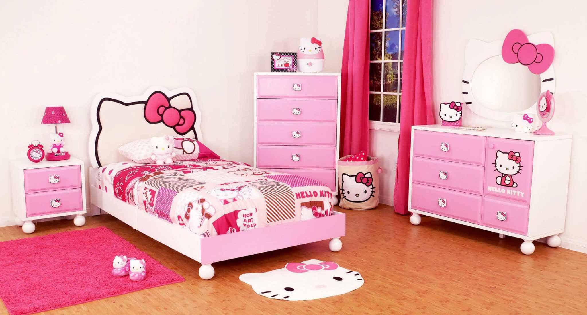 Desain Kamar Tidur Anak Motif Hello Kitty Pasarsemarang Com