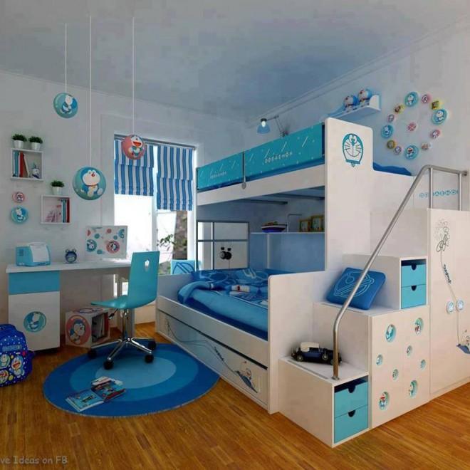 Desain Kamar Anak Motif Kartun, Contoh Desain Kamar Anak, Desain Kamar Anak
