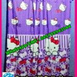 Pernak Pernik Hello Kitty HK Dotty Ungu, Gorden Untuk Rumah Minimalis, Model Gorden Terbaru