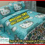 Pernak Pernik Hello Kitty HK Leopard Tosca, Sprei Lucu dan murah, Grosir Sprei Di Jogja