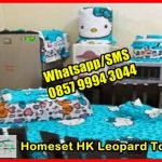 Pernak Pernik Hello Kitty Homeset HK Leopard Tosca, Set Taplak Meja Makan, Taplak Meja Hello Kitty