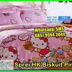 Pernak Pernik Hello Kitty Sprei HK biskuit pink, Harga Sprei dan Bedcover, Jual Sprei Katun Jepang Polos