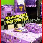 Pernak Pernik Homeset HK purple square, Jual Sprei Murah Online, Jual Sprei Katun Jepang