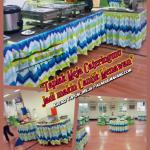 Jual Set Taplak dan Sarung Kursi Meja Pesta Bermotif