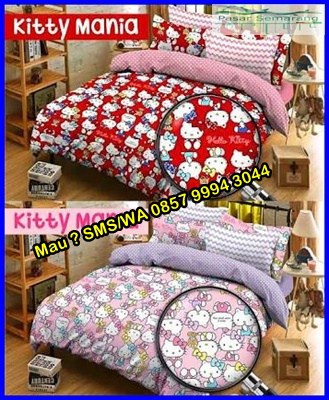 Motif Sprei Hello Kitty