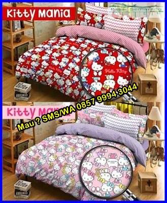 Motif Sprei Hello Kitty, kamar anak perempuan sederhana, kamar hello kitty ungu