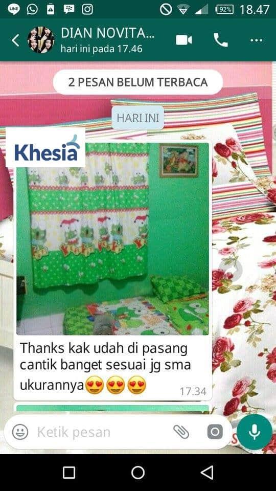 Gorden Dapur Motif Khesia Pasar Semarang